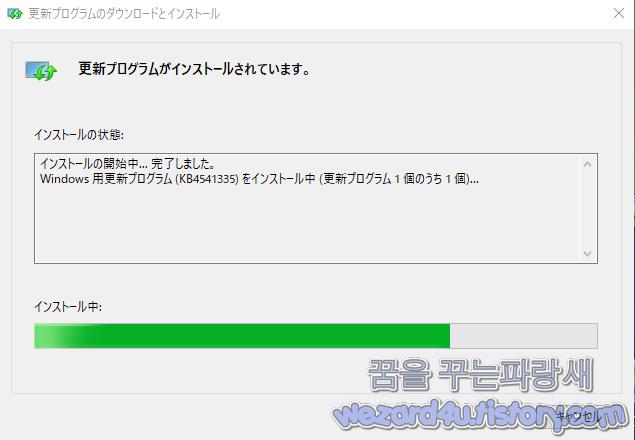 Windows 10(윈도우 10) KB4541335 선택적 누적 업데이트