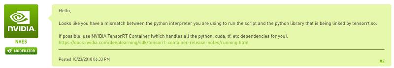 TensorRT] Docker Container를 이용한 TensorRT 설치