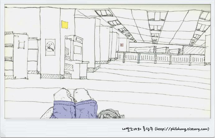 나발소녀와 홍당무 :: 싱가폴 국립 도서관 (National library of Singapore)에서의 추억