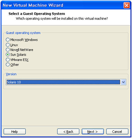 Solaris 10 설치하기 [VMware install] - New Virtual Machine