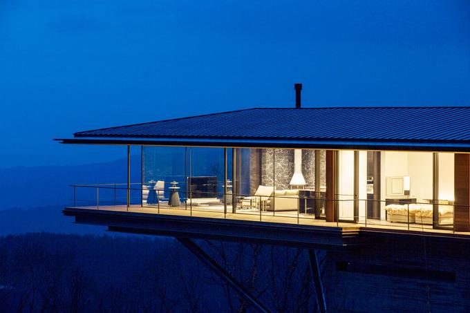 *캔틸레버 하우스 자연으로 비상하다 [ kidosaki architects studio ] cantilevers house in yatsugatake mountains