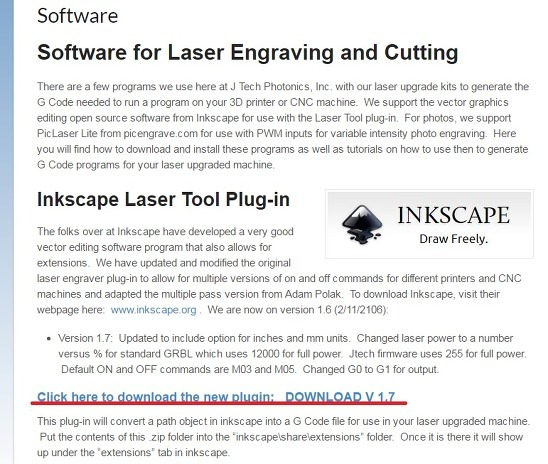 Inkscape Jtech Extension