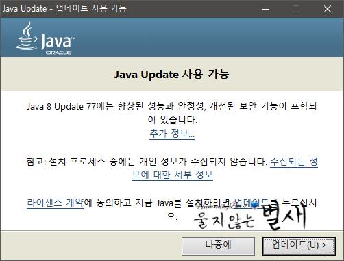 java runtime 1.8 update 77