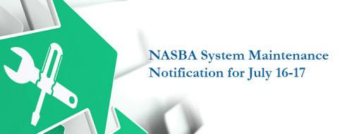 NASBA 시스템 정비안내 (7/16~7/17) - 해당 기간 AICPA 시험