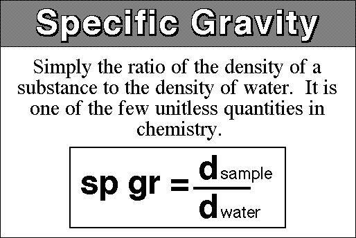 플랜트 엔지니어링 :: Specific Gravity (Relative Density)
