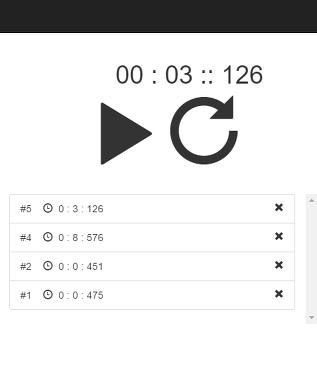 Bootstrap 활용한 Stopwatch 예제 (Plank 운동을 위하여)