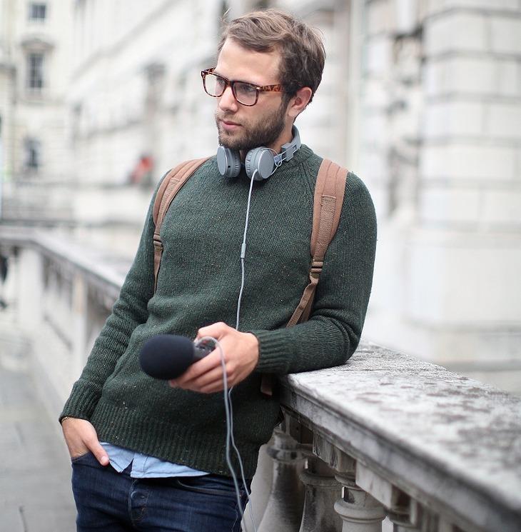 다양한 컬러로 보는 남자 가을 니트 코디 및 패션