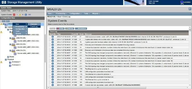 HP Storage Management Utility (SMU) Log 확인 및 추출