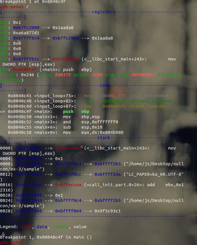 Linux] Peda [Python Exploit Development Assistance for GDB]