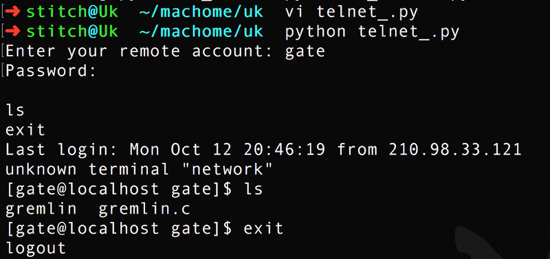 telnet 모듈