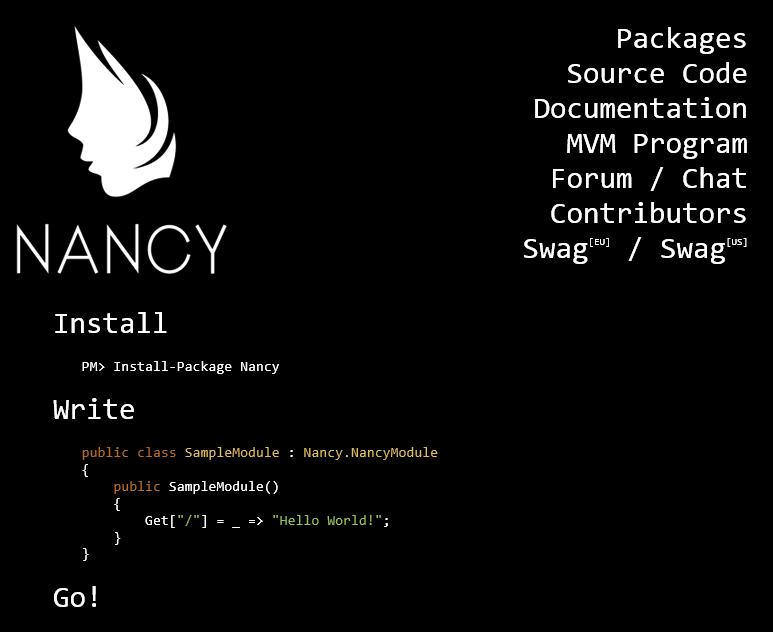 Mono][ASP NET] Nancy Framework -  Net, Mono 지원하는 Restful