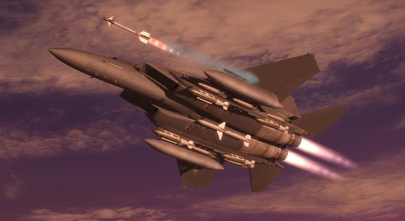 [P3D] 저녁 무렵 F-15K(?!) 끌고 마실 다녀왔습니다