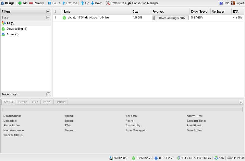 라즈베리파이 Openmediavault NAS 토렌트 클라이언트 설치 및