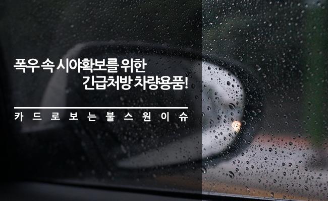 폭우 속 시야확보를 위한 긴급 처방 차량용품!