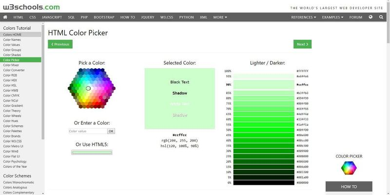 Wrkbr :: [HTML] HTML 색상 선택 (HTML Color Picker)