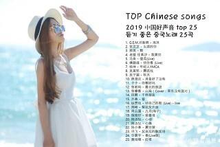 듣기좋은중국노래 1 3 2019년 中国好声音 top 25 最流行的25首