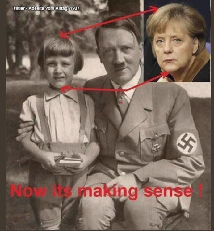 「メルケル ヒトラー」の画像検索結果