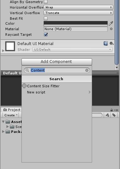 Unity3D] UI 비법서 (1) - 당신의 레이아웃에 딱맞는 Content Size Fitter