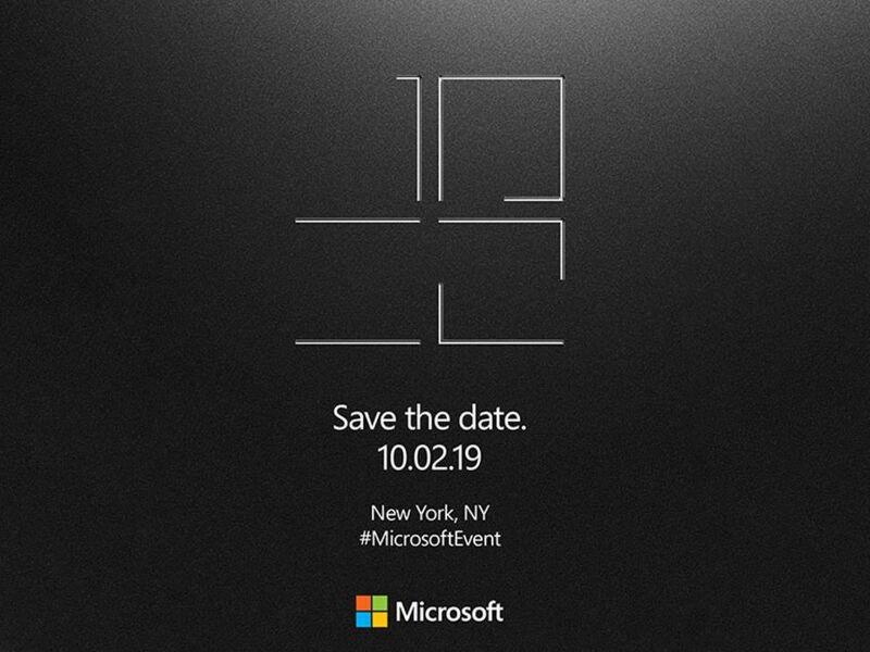 마이크로소프트, 10월 2일에 대형 이벤트 개최. 소문의 2화면 Surface발표?