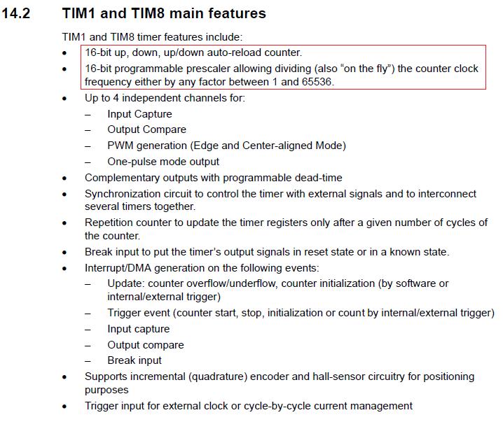 STM32 TIMER Counter Mode