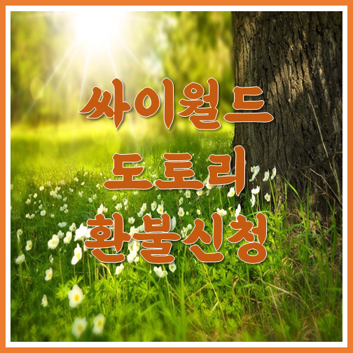 싸이월드 도토리 환불신청 방법