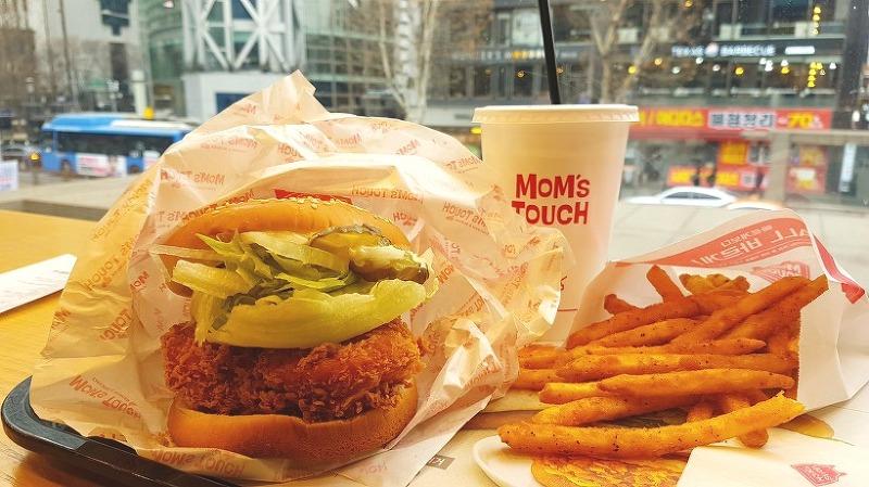 맘스터치 - 마살라 버거/ 치킨, 햄버거