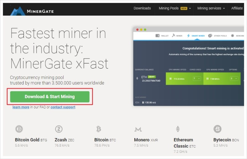 Zcash mining gui