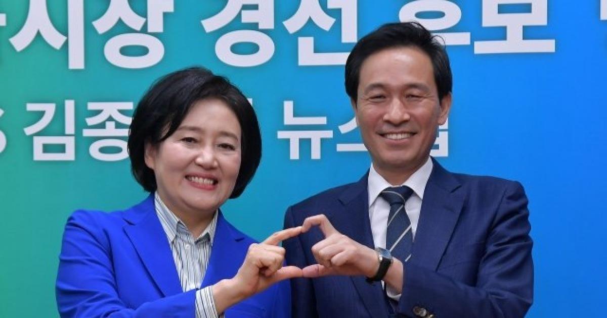 [4.7 서울시장 재보선 여론조사]박영선 43.1% vs 우상호 18.3%