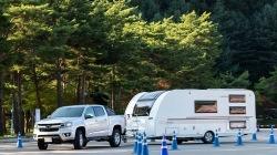 콜로라도, 1.8톤 캠핑 트레일러 달고 운전하기