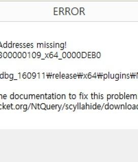 x64dbg ScyllaHide NtUser* API Address missing