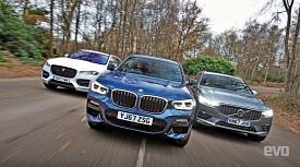 최고를 향하여, BMW X3 vs 볼보 XC60 vs 재규어 F-페이스