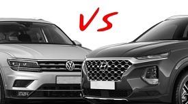 [이남기자의 카톡]엘리트 SUV, 싼타페 vs 티구안 승자는?