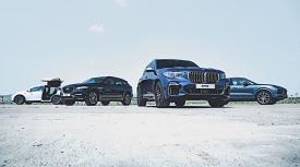 [시승기] 재규어 F-페이스 R 스포츠 VS BMW X5 M50d VS 테슬라 모델 X VS 포르쉐 카이엔(1)
