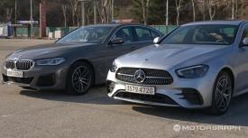 [비교시승] '삼각별의 여유' 벤츠 E클래스 vs '운전의 재미' BMW 5시리즈