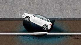 '불가항력 사고' 믿기 힘든 주차장 거대한 싱크홀 사고!