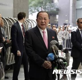 """리용호 """"미국 트럼프 선전포고..북한 자위권 행사할 것"""""""