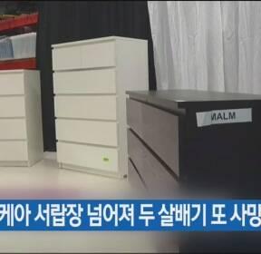 이케아 서랍장 넘어져 두 살배기 또 사망