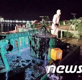 여수 낙포동 한구미 물량장서 급유선 기름유출 사고