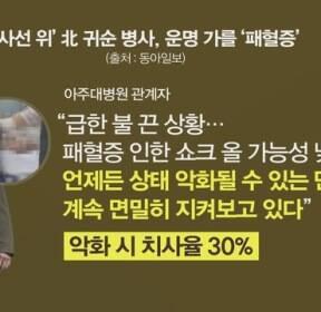 [김은혜의 사회 이슈] 귀순 병사, 폐렴·B형 간염·패혈증까지 걸려 회복 어렵다?