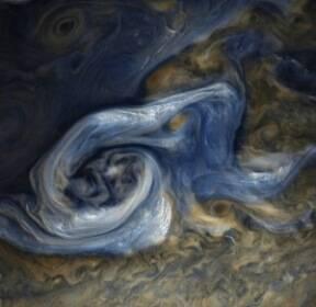 [우주를 보다] 신이 물감으로 그린 듯..목성의 구름과 폭풍
