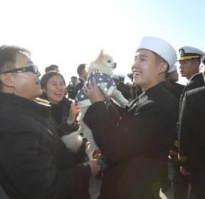 [서소문 사진관]98일 대장정을 마치다, 해군 순항훈련전단 입항 환영식