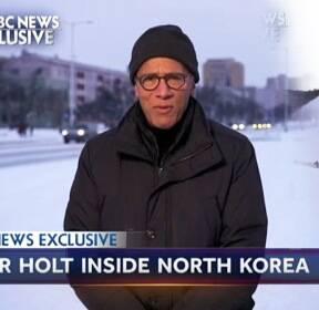 南 선발대 방북..北, '美 NBC 단독 초청'한 이유는?