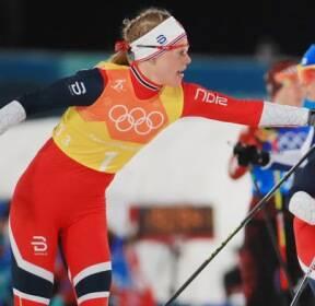 [슬라이드 포토] 크로스컨트리 스키 여자 4X5km 계주