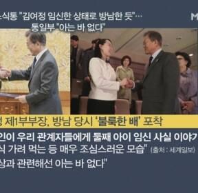 """[김은혜의 정가 이슈] 소식통 """"김여정 임신한 상태로 방남한 듯""""..통일부 """"아는 바 없다"""""""