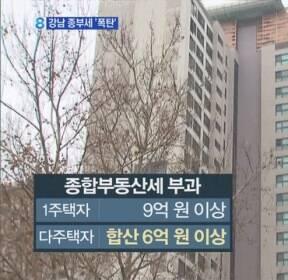 보유세 폭탄 현실로?..강남 전용 59㎡가 종부세