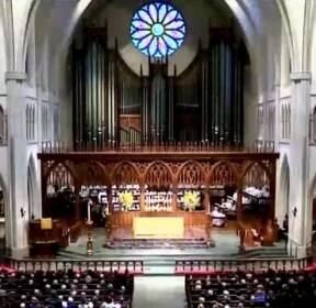 미 바버라 부시 여사 장례식..전직 대통령 4명 한자리에