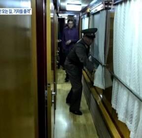 방북 기자단, 열차서 '취소' 소식..북측도 '충격'
