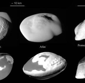 [아하! 우주] 토성의 '비행접시 위성' 알고 보니 정면충돌로 생성