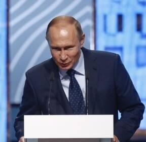 모스크바 도시 포럼에 참석한 푸틴 대통령