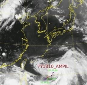 10호 태풍 '암필' 북상 중..한반도 폭염 깰 유일 변수로